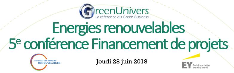 Energies renouvelables 5e conférence Financement de projets