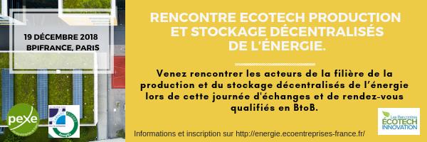 Rencontres Ecotech Production et stockage décentralisés de l'énergie