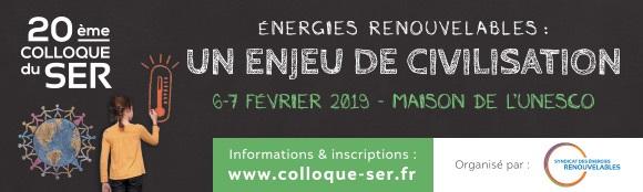 20ème Colloque du SER, Energies renouvelables : un enjeu de civilisation