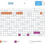 Calendrier effacement 2018