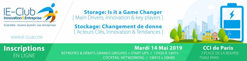 Stockage : changement de donne, IE-Club, Paris