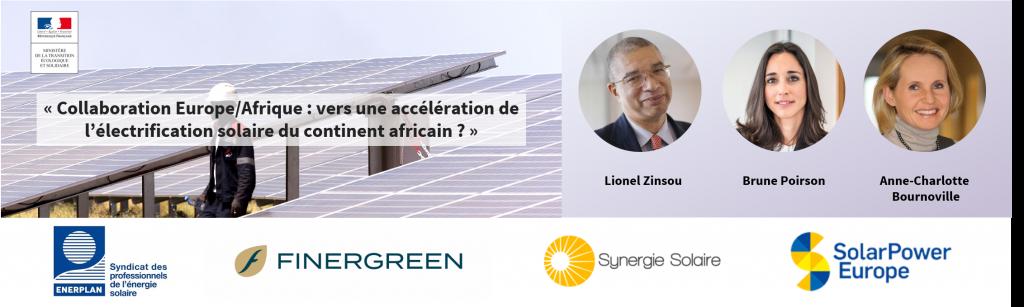 Conférence Collaboration Europe/Afrique : vers une accélération de l'électrification solaire du continent ?
