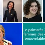 Le palmarès 2020 des femmes des énergies renouvelables