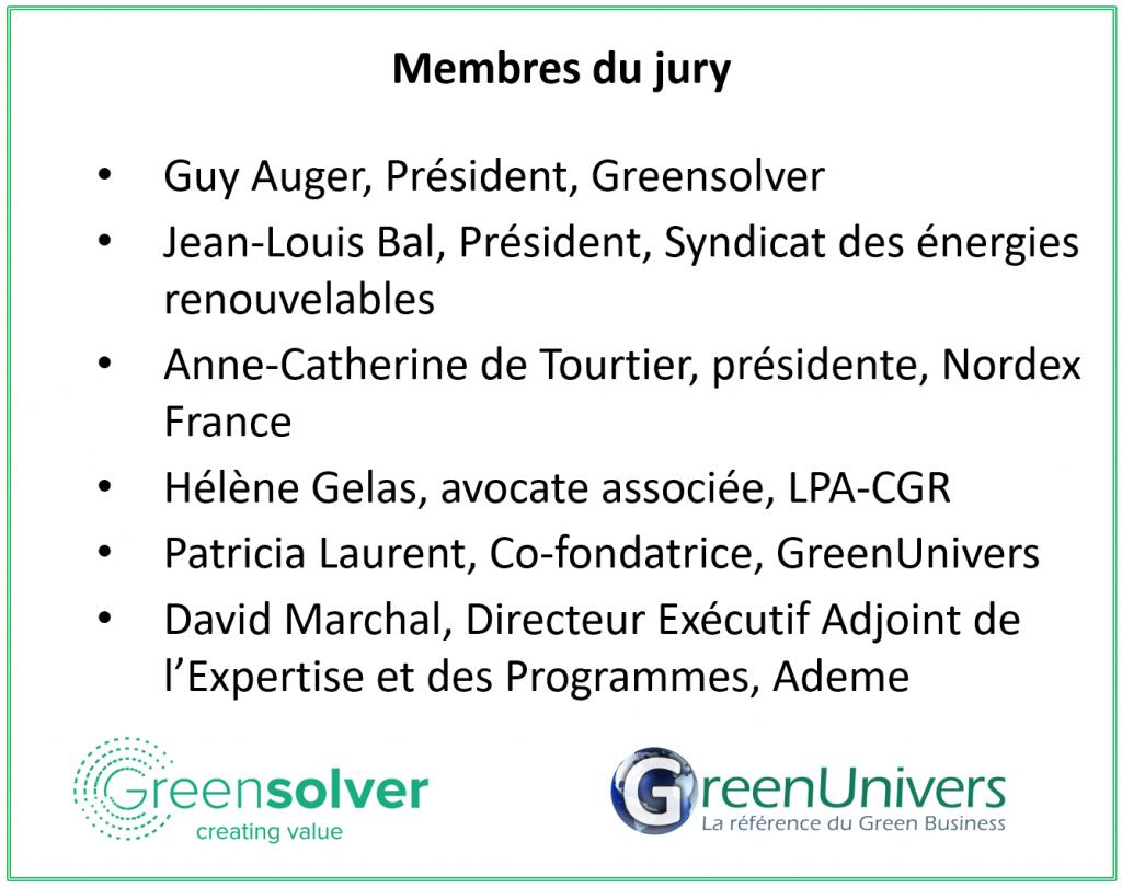Membres du jury - Palmarès 2020 des femmes des EnR