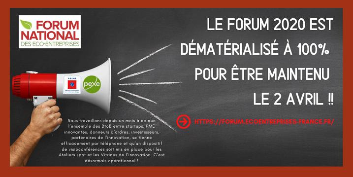 Forum Natioanl des Eco-Entreprises 2020, 100% dématérialisé