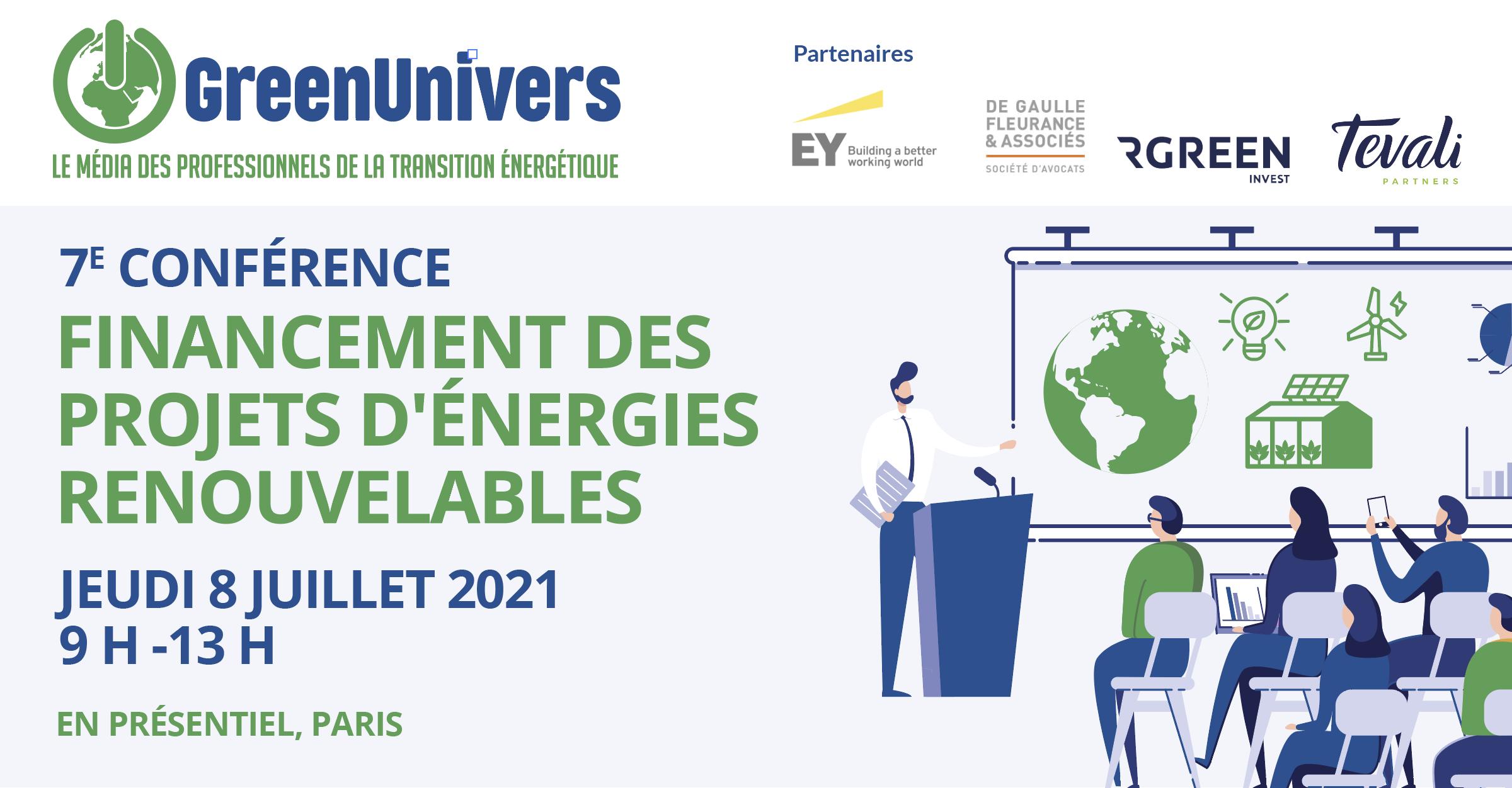 7e conférence Financement des projets d'énergies renouvelables